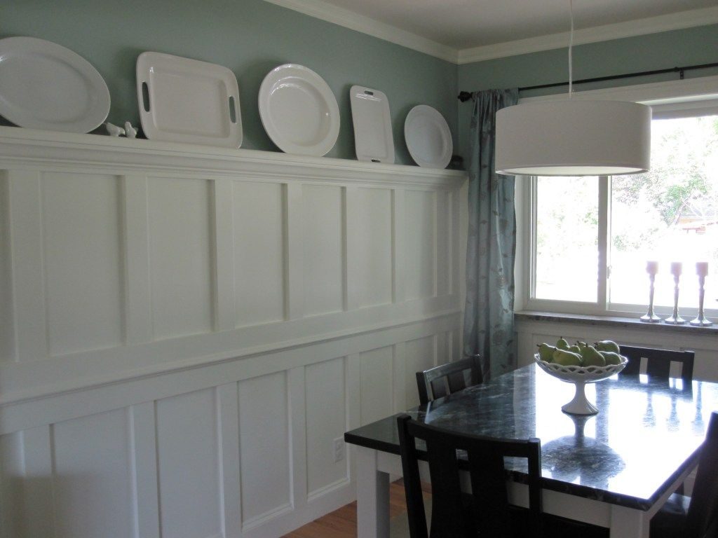 Dining Room Molding Ideas By Love The Wainscoting W Plate Rail Home Designs
