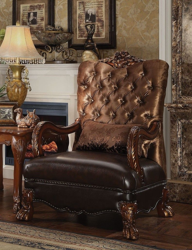 52097 Ac Furniture In 2019 Brown Accent Chair Accent