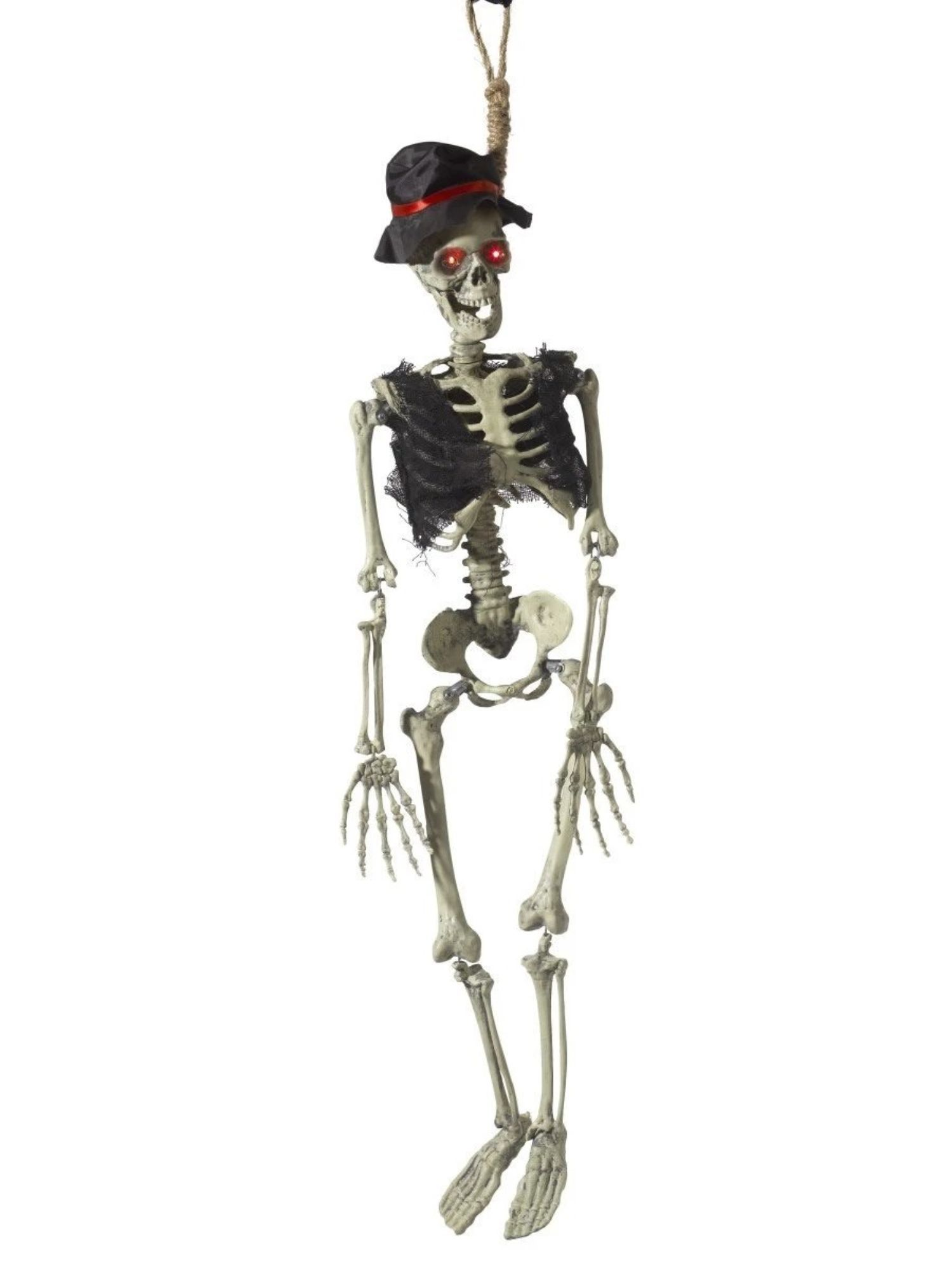 47 Red And Cream White Animated Hanging Groom Skeleton Decoration