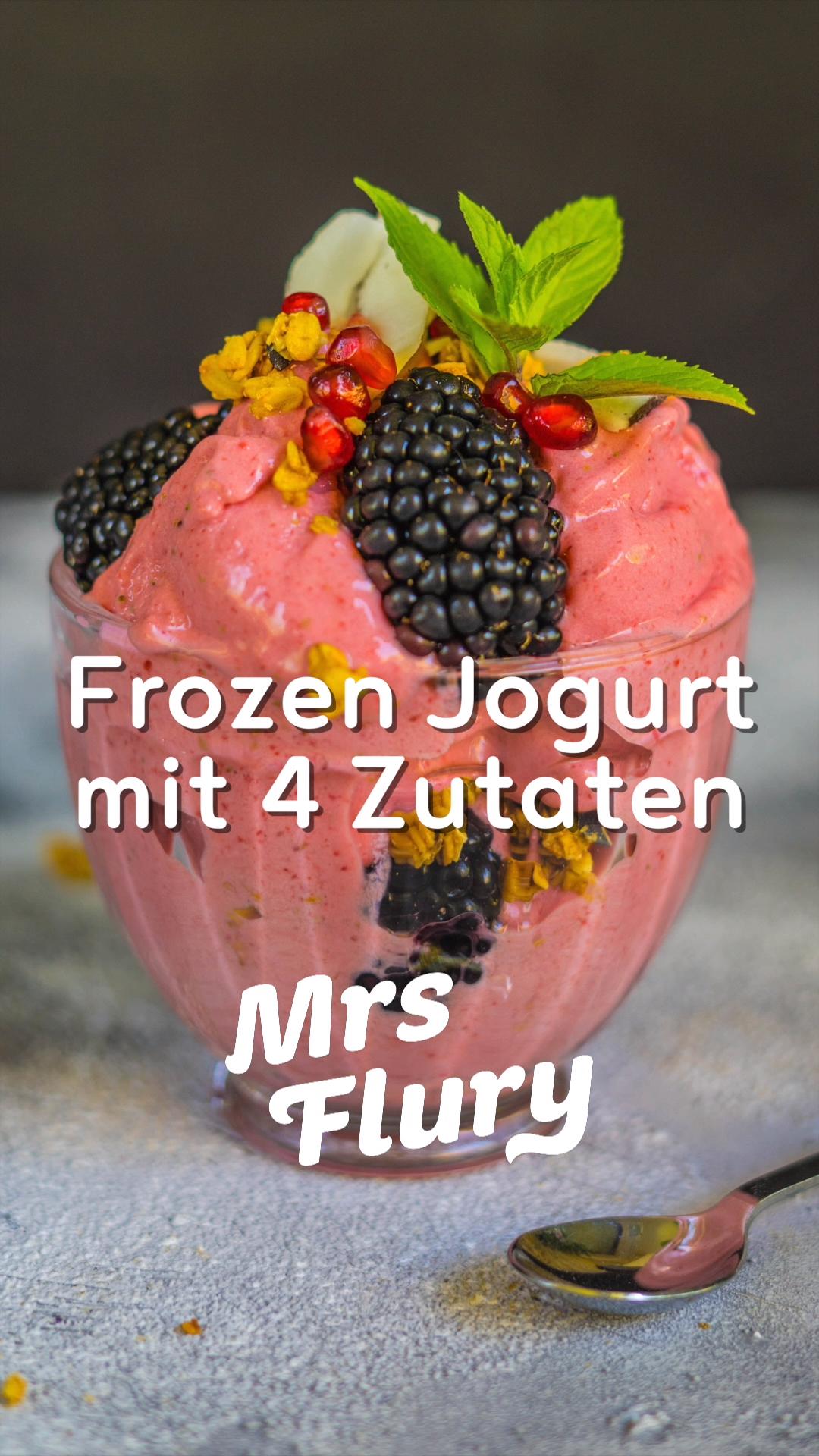 Frozen Yogurt 4 Zutaten Rezept