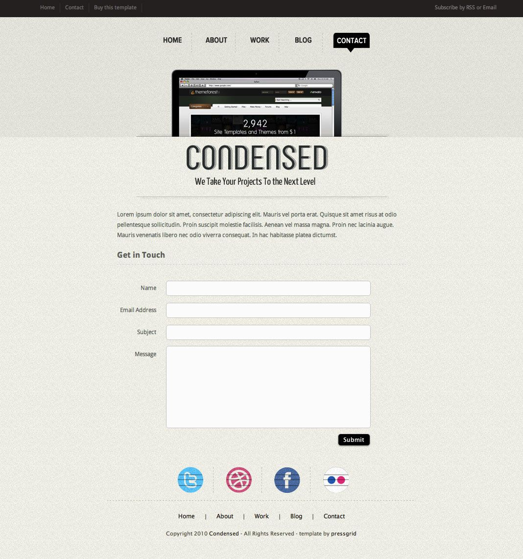 HTML Template #Condensed, #HTML, #Template