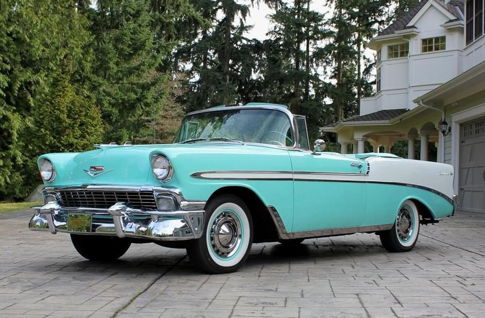 56 Chevy Bel Air Convertible I Want It Classic Cars Old Classic Cars Classy Cars