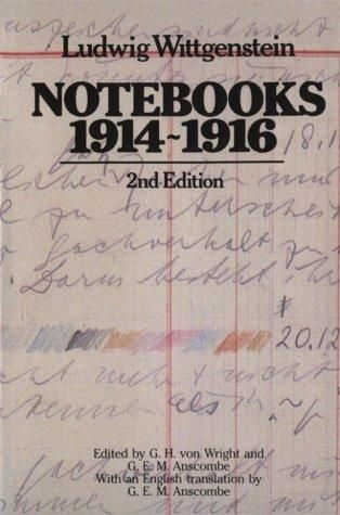 Notebooks 1914 1916 Open Library Book Cover Page Philosophy Ludwig Wittgenstein