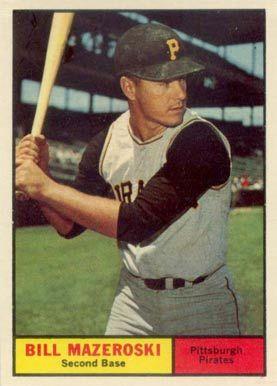 Bill mazeroski baseball card 1961 topps bill mazeroski 430 bill mazeroski baseball card 1961 topps bill mazeroski 430 baseball card value price guide colourmoves