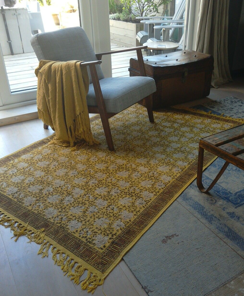 ikea chair ekenaset blue yellow rugs vintage