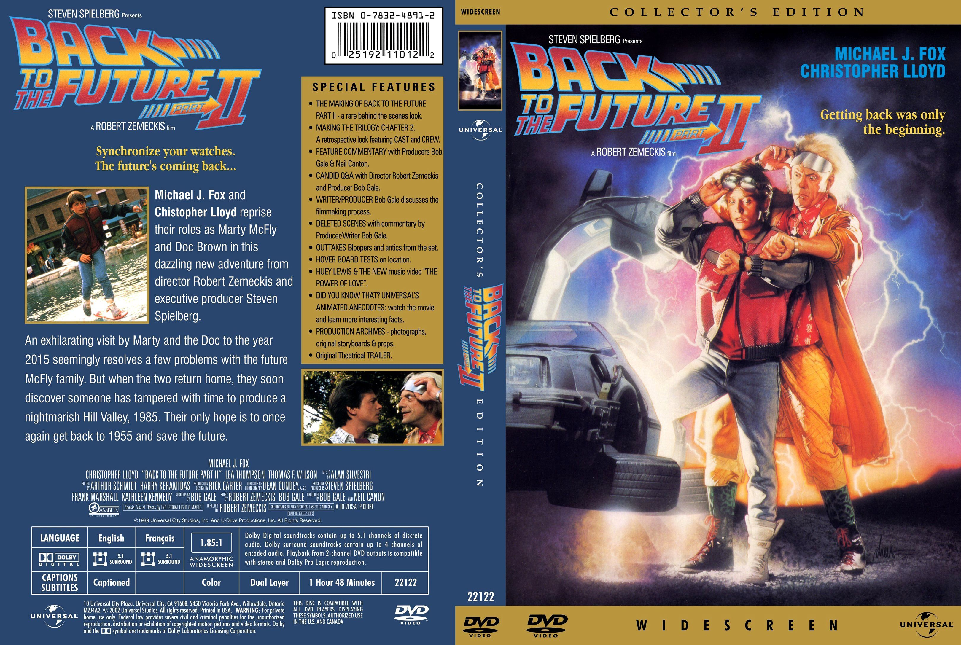 Back To The Future Part Ii Dvd Front Cover With Images Dvd