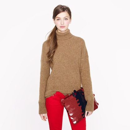 Collection chunky turtleneck sweater - j.crew cashmere - Women's ...