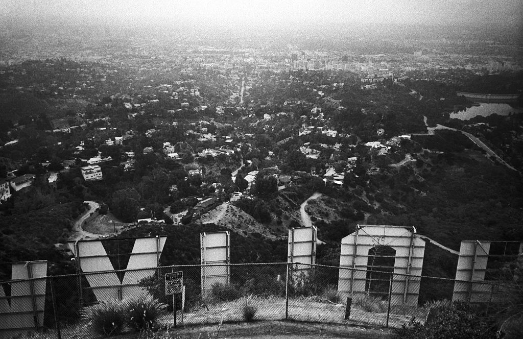 love this! hollywood sign seen from another point of view