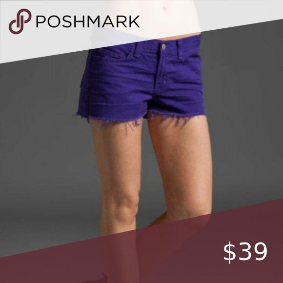 J Brand Purple Raw Hem Fray Cutoff Jean Shorts 28