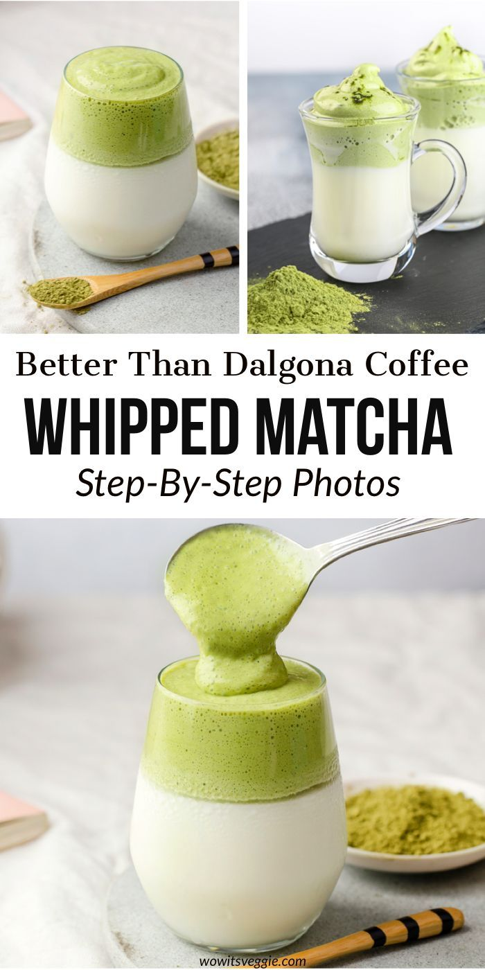 4-Ingredient Whipped Dalgona Matcha (Step-By-Step) – Wow, It's Veggie?!