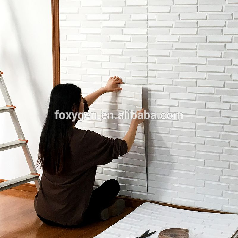 Household Eco Friendly Good Sound Insulation Back Adhensive 3d Wall Paper Wallpapers Fauxbricks Wall Brick Wallpaper Sticker Wall Wallpaper Sound Insulation