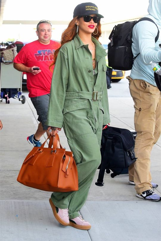 578727854cc Rihanna arriving at JFK airport in NYC - July 6th