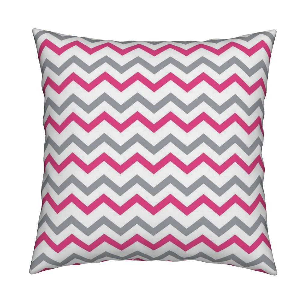 Catalan Throw Pillow featuring Pink & Gray Chevron by thepinkhome | Roostery…