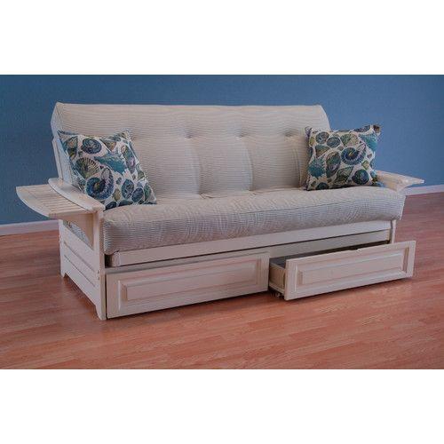 Kodiak Furniture Coastal Phoenix Clic Stripe Storage Drawers Futon And Mattress
