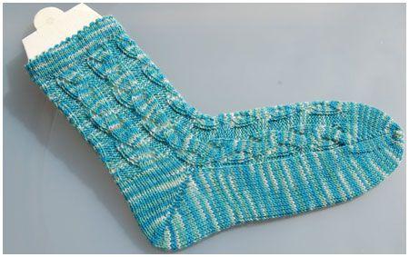 Anleitung Socken stricken Muster Aquarius | Muster vom FIDO ...