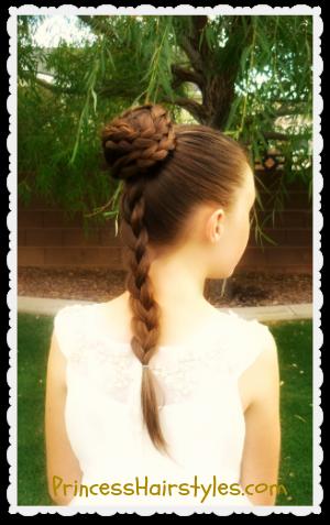 Princess Leia Hairstyle Spiral Braid Bun Star Wars Inspired Princess Leia Hair Star Wars Hair Hair Styles