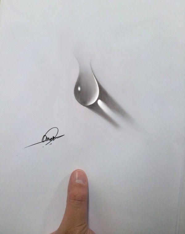 40 Realistic Water Drops Drawings And Tutorials Art Drawings