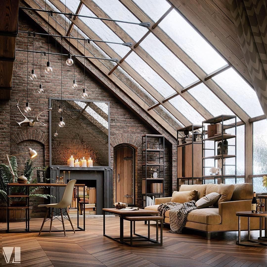Industrial Chic Loft Design By Vizline Studio Tag An