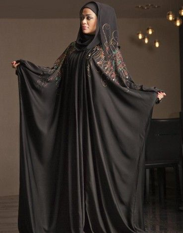 Al Motahajiba Winter Abaya Collection 2014 2015 Fashion
