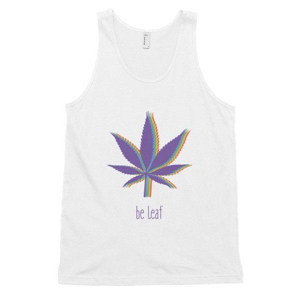 """be leaf"" tank top (unisex)"