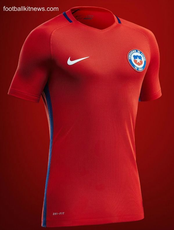 Chile Home Jersey 2016  b97647a9dfb39