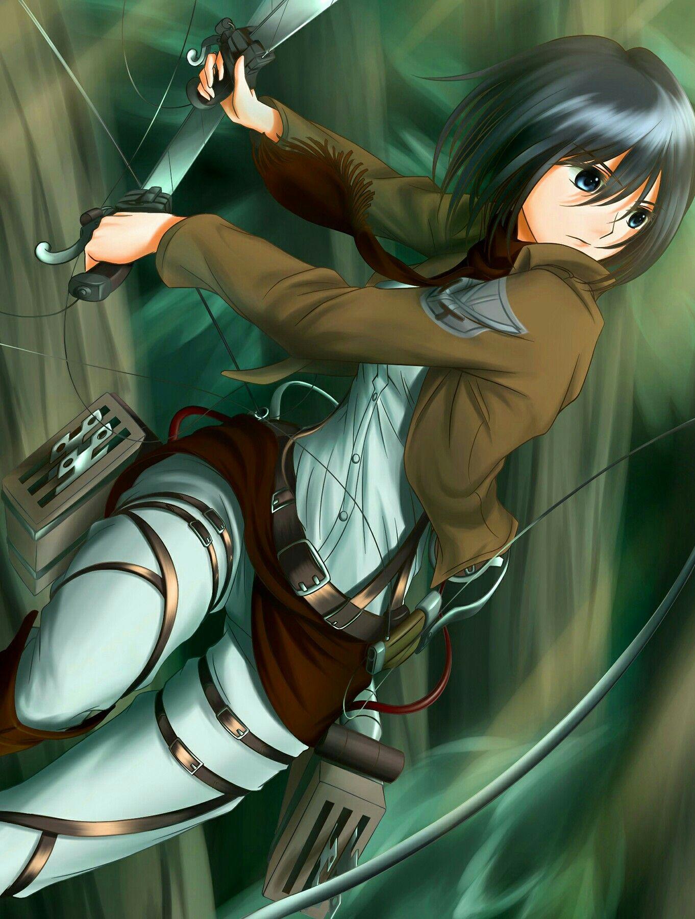 Mikasa Ackerman Kyojin Titanes Shingeki No Kyojin Ilustracion De Fantasia