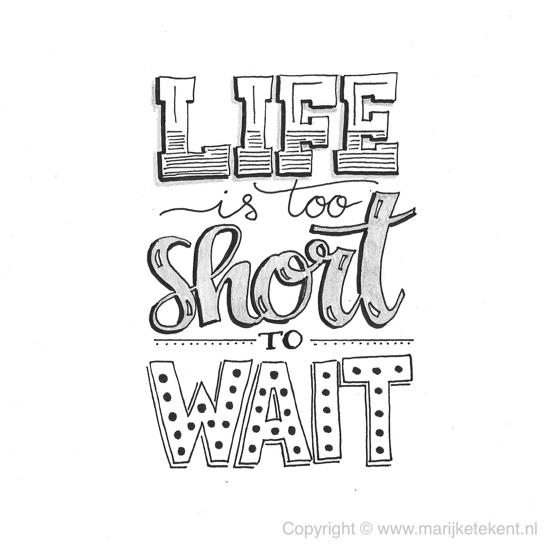 is to wait handlettering quote www