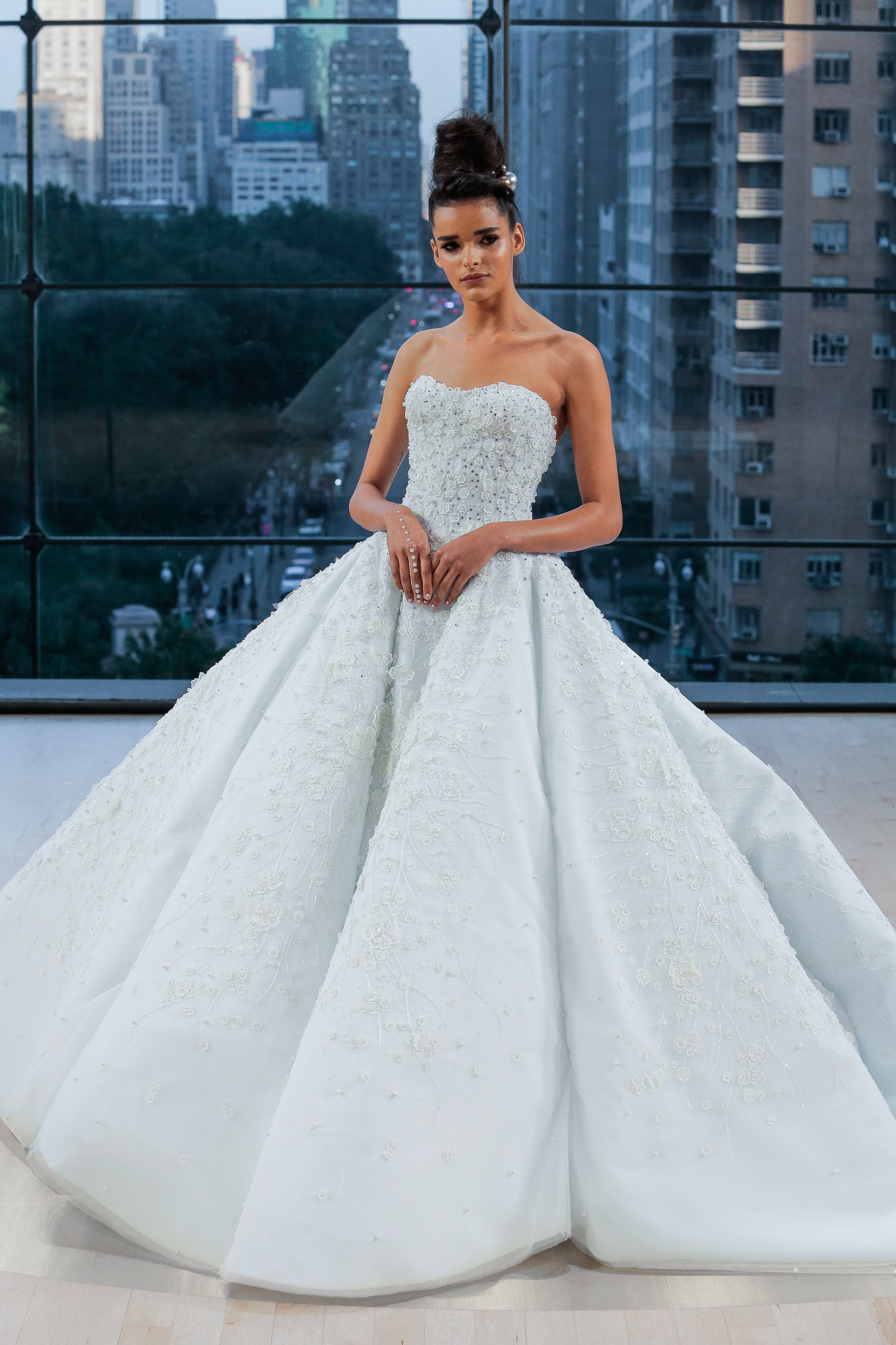 f51a66f39744 TIFFANY Encrusted off the shoulder sweetheart grand wedding ball gown with  natural waist and extended cathedral train