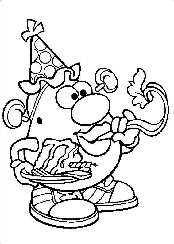 coloring page Mr Potato Head Mr Potato Head Yoga Pinterest