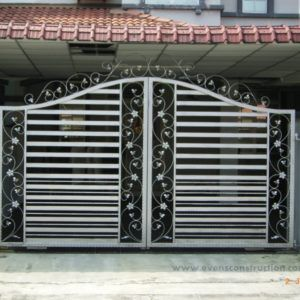 Magnificent Simple Gate Designs For Homes In Kerala Also Evens Construction  Pvt Ltd Compound Walls And