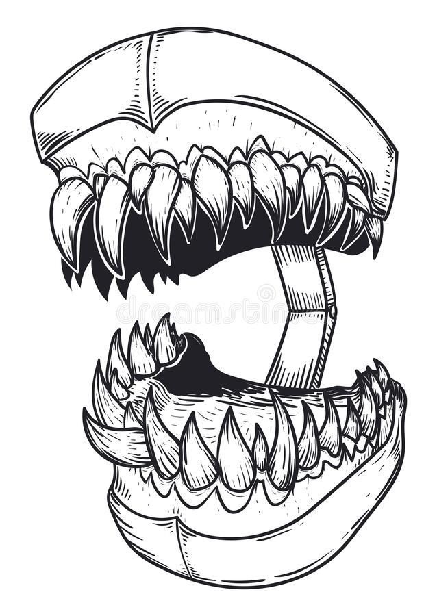 Drawing Of Fierce Teeth Model With Sharp Teeth In 2021 Teeth Drawing Drawings Sharp Teeth