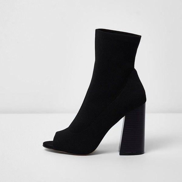River IslandHigh heeled ankle boots - black hIVhfX