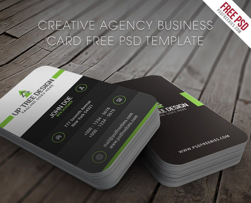 Creative Agency Business Card Template Psd Bussiness Cards