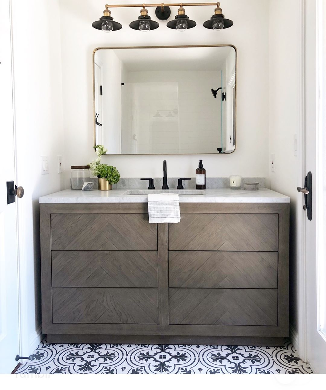Eye For Pretty On Instagram When The Pre Fab Is Straight Up Just Fab Swipe To See How This Rh Vanity Changed The Entire Look Of This Cute Little Ki Boy Bath