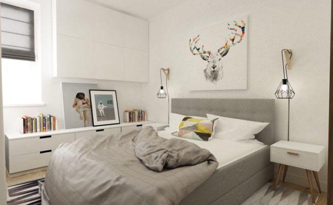 schlafzimmer-weiss-grau-skandinavisch-polsterbett | Schlafzimmer in ...