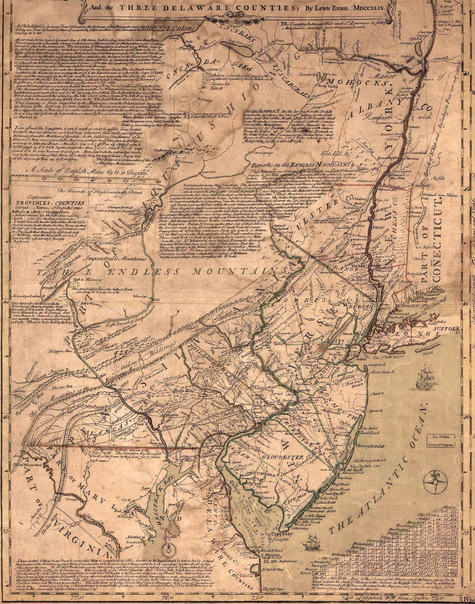 Map Of Pa Nj And Ny