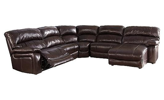 Damacio Dark Brown Sectional Ashley Furniture Ashley