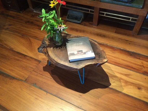 Live Edge Walnut Table by WoodstockVL on Etsy