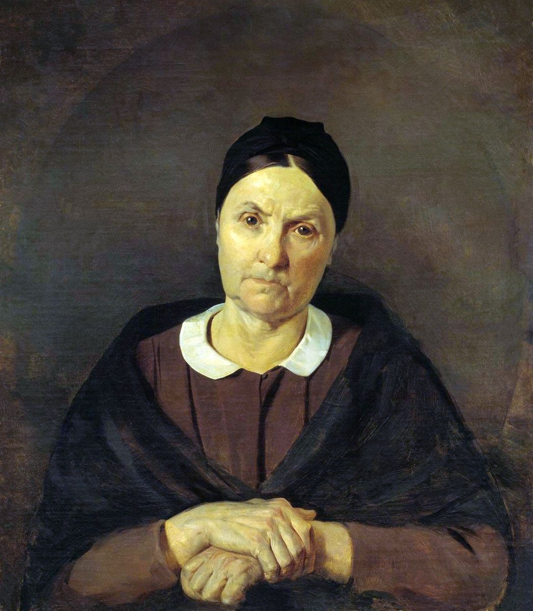 Сорокин Евграф Семенович. Портрет матери художника