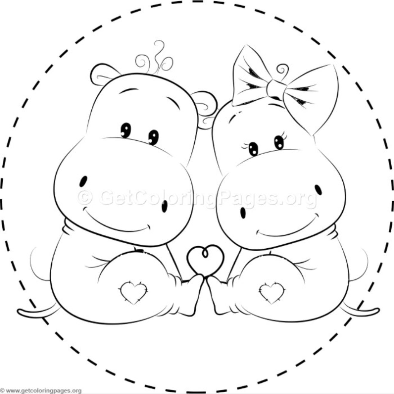 Cute Hippo Coloring Pages Getcoloringpages Org Cute Hippo