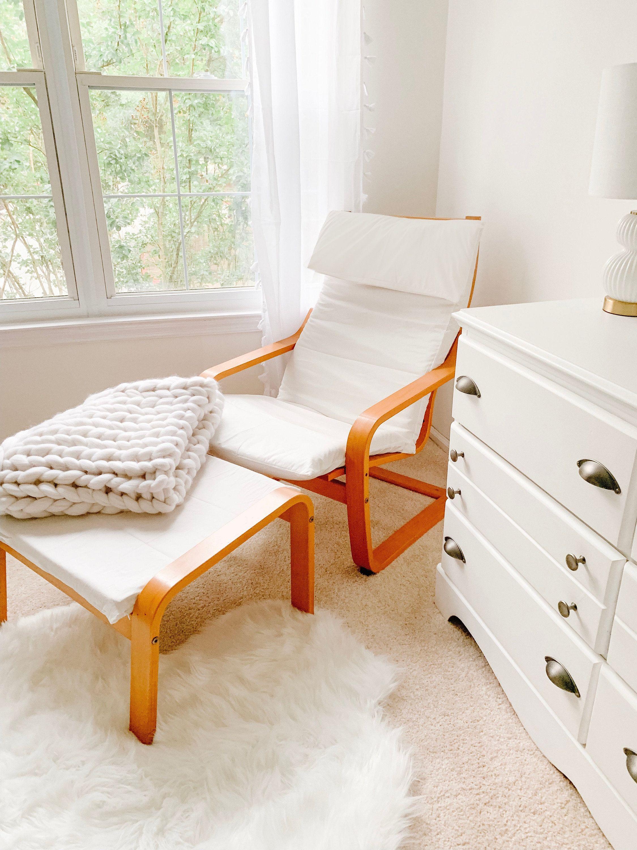 Ikea Poang Cushion Slipcover Plain White Ikea Chair Cover Unique