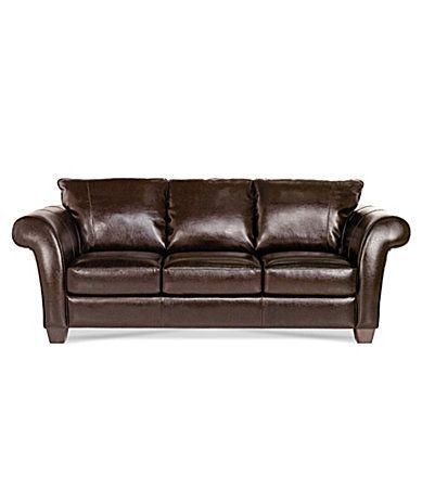 Natuzzi Bari Leather Sofa, Dillards | Living Room | Pinterest | Leather sofas, Living rooms and Room