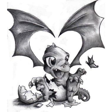 Dragón bebé | Tatoo | Pinterest | Dragones, Bebé y Criaturas mágicas