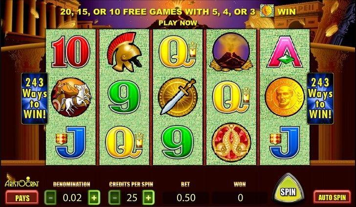 Free Casino Games Pompeii