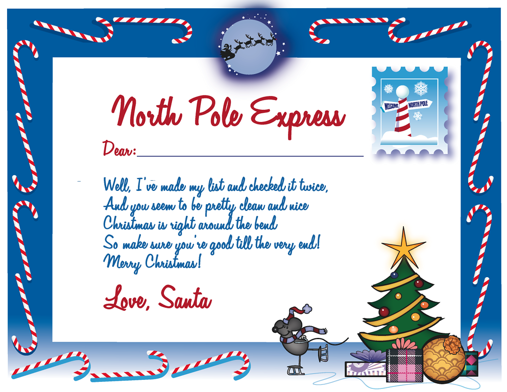 Printable Free Letters From Santa Claus Letter From Santa Claus