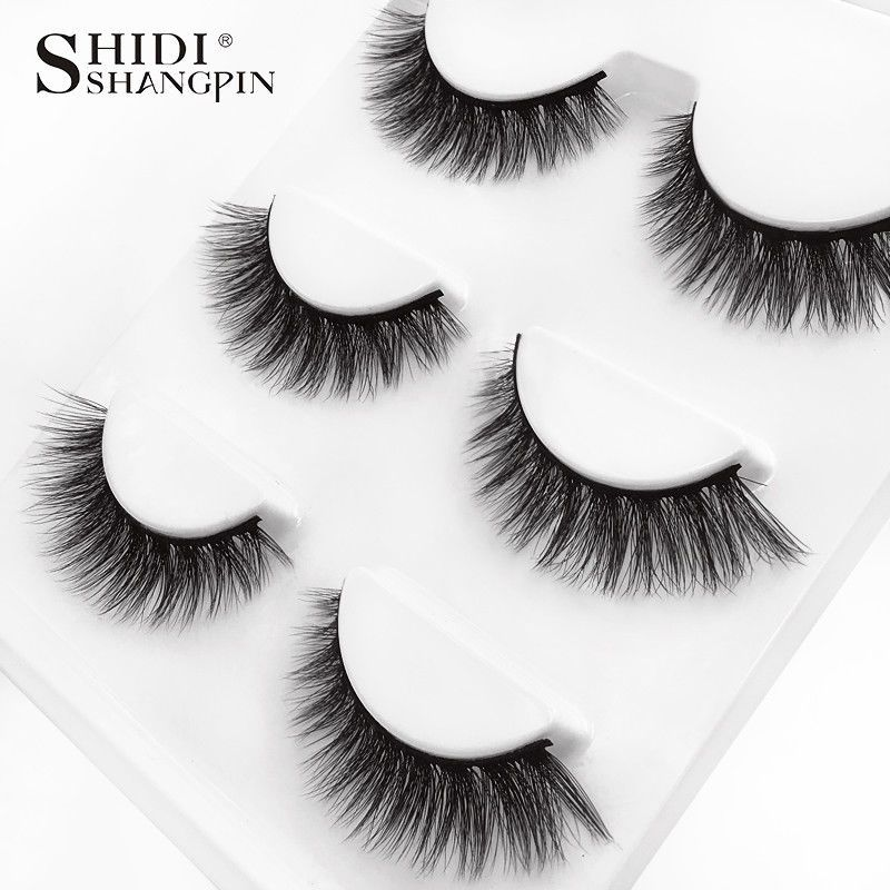 90b1898ba58 3 Pairs 100 Real Mink 3D Volume Thick Daily False Eyelashes Strip Lashes  #01#Mink#Volume#Thick