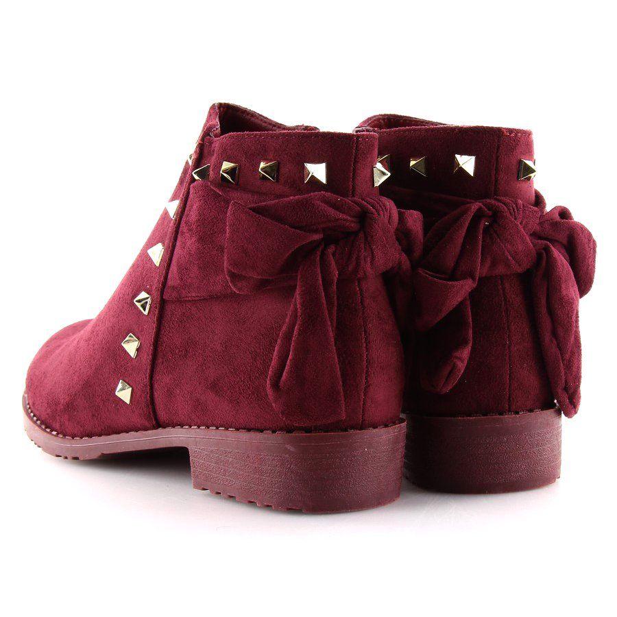 Sztyblety Z Cwiekami Bordowe Ll 168 Ii Gat Czerwone Bucket Bag Shoes My Style