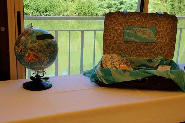 urne de mariage originale - globe terrestre urne - mariage - wedding