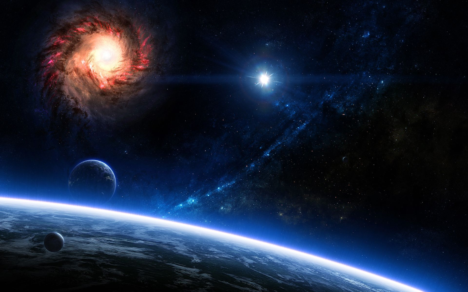 Blue Space Wallpaper 5754 6017 Hd Wallpapers Jpg 1920 1200 Wallpaper Space Space Art Galaxy Wallpaper