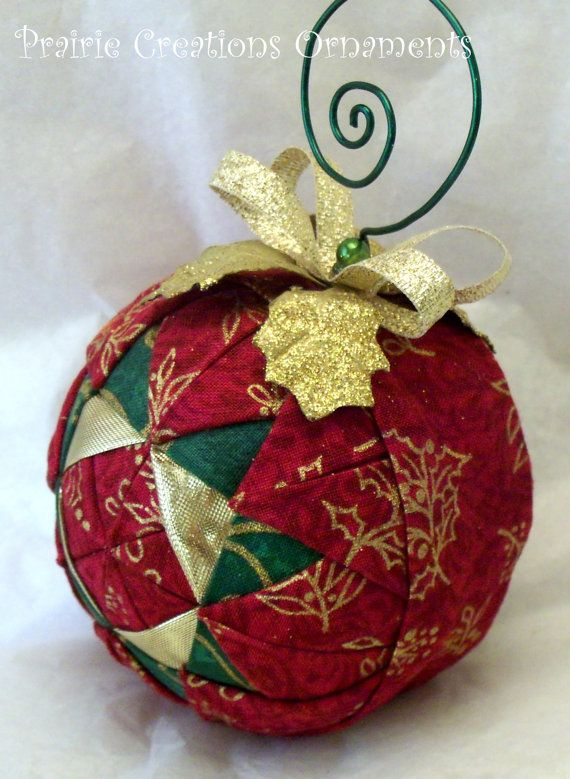 Acolchado Bola Ornamento Brillante Navidad Por Myprairiecreations